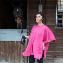 Morland Supersoft Merino Poncho Light Fuchsia